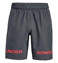 Under Armour UA Woven Graphic WM SRT - pantaloni corti fitness - uomo, Grey/Red