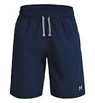 Under Armour UA Woven SHRT - pantaloni corti fitness - bambino, Dark Blue
