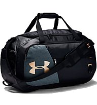 Under Armour Undeniable Duffel 4.0 (M) - borsone sportivo, Black/Grey/Gold