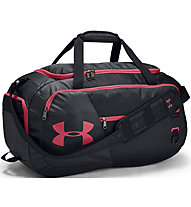 Under Armour Undeniable Duffel 4.0 (M) - borsone sportivo, Black/Red
