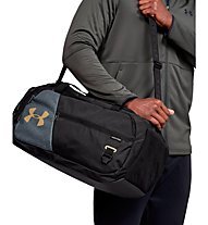 Under Armour Undeniable Duffel 4.0 (S) - borsone sportivo, Black/Grey/Gold