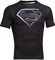 Under Armour UA Short Sleeve Compression Shirt, Superman (Black)