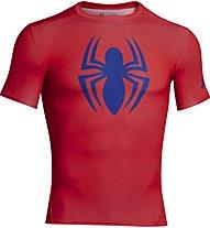 Under Armour UA Short Sleeve Compression Shirt, Spider (Volcano)