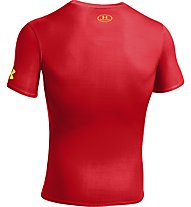 Under Armour UA Short Sleeve Compression - T-Shirt fitness - uomo, Red
