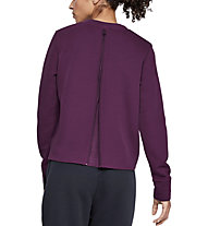 Under Armour Unstoppable Move Light Radial Back Pleat Crew - Sweatshirt - Damen, Violet