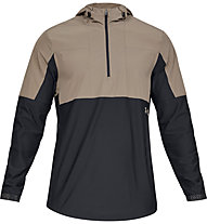 Under Armour Vanish Hybrid - giacca con cappuccio - uomo, Light Brown/Black