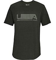 Under Armour Versa Tee - T-shirt fitness - uomo, Dark Green