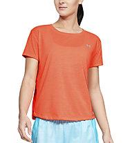 Under Armour Whisperlight Mesh - T-shirt fitness - donna, Orange