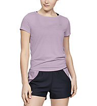 Under Armour Whisperlight Tie Back - T-shirt fitness - donna, Pink