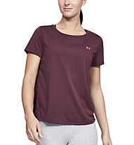 Under Armour Whisperlight Tie Back - T-shirt fitness - donna, Violet