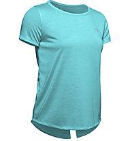 Under Armour Whisperlight Tie Back - T-shirt fitness - donna, Light Blue