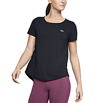 Under Armour Whisperlight Tie Back - T-shirt fitness - donna, Black