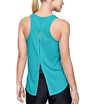 Under Armour Whisperlight Tie Back - top fitness - donna, Azure