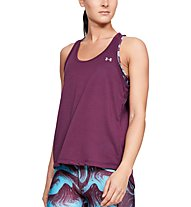Under Armour Whisperlight Tie Back - top fitness - donna, Violet