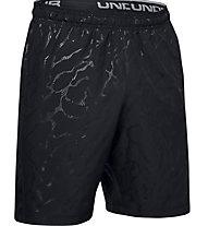 Under Armour Woven Graphic Emboss - pantaloni corti fitness - uomo, Black