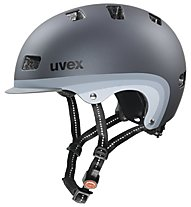 Uvex City 5 Radhelm, dark silver metallic mat
