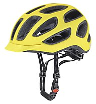 Uvex City E - casco bici, neon yellow matt