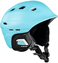 Uvex Comanche 2 - casco sci, Light Blue/Blue