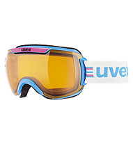 Uvex Downhill 2000 Race Chrome - Skibrille, Pink/Cobalt Chrome