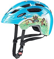 Uvex Finale Junior LED - Radhelm - Kinder, Blue/Green
