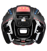 Uvex Finale light - casco bici con led - uomo, Black