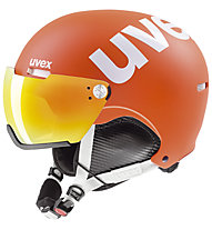 Uvex hlmt 500 visor - casco sci alpino, Orange