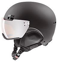 Uvex hlmt 500 visor - casco sci alpino, Black mat