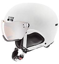 Uvex hlmt 500 visor - casco sci alpino, White mat