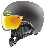 Uvex hlmt 500 visor - Skihelm, Dark Grey mat