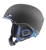 Uvex Hlmt 5 Core - casco freeride, Black/Cobalt Mat