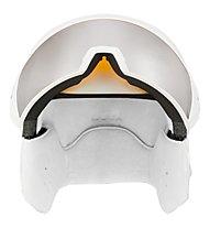 Uvex Hlmt 700 visor - Skihelm mit Visier, White Mat