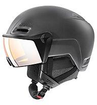 Uvex Hlmt 700 visor - Skihelm mit Visier, Black Mat