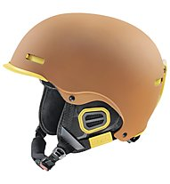 Uvex Hlmt 5 Pro - Casco freeride, Brown/Yellow Mat