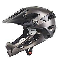 Uvex Jakkyl HDE Enduro-Radhelm, black/dark silver matt