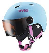 Uvex Junior Visor Pro - Casco da sci, Liteblue Mat