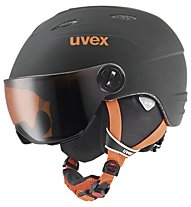 Uvex Visor Pro - casco da sci - bambino, Black/Orange