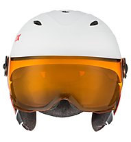 Uvex Junior Visor Pro - Kinder-Skihelm, White/Red