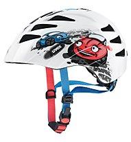 Uvex Kid 1 Cars - casco bici - bambino, White