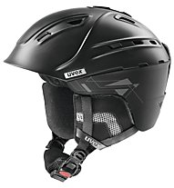 Uvex p2us - casco freeride, Black Mat