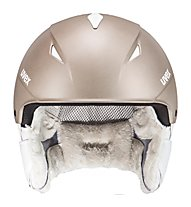 Uvex Primo - Skihelm - Damen, Light Brown Metal