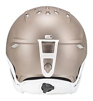 Uvex Primo - casco sci alpino - donna, Light Brown Metal