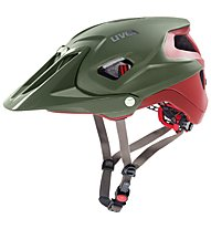Uvex Quatro Integrale - Radhelm MTB, Green/Red