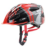 Uvex Quatro Junior - casco bici - bambino, Red/Grey