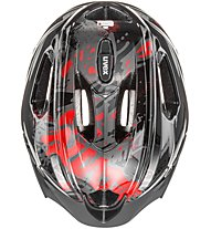 Uvex Quatro Junior - casco bici - bambino, Black/Red