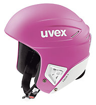 Uvex Race+ casco sci, Pink/White