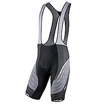 Uyn Alpha Biking - pantaloni bici con bretelle - uomo, Black/White