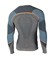 Uyn Ambityon Melange - maglietta termica a maniche lunghe - uomo, Black/Orange