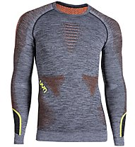 Uyn Ambityon Melange - Funktionsshirt Langarm - Herren, Grey/Yellow/Orange