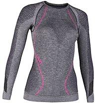 Uyn Ambityon Melange - maglietta tecnica a maniche lunghe - donna, Black/Violet