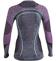 Uyn Ambityon Melange - maglietta tecnica a maniche lunghe - donna, Grey/Light Blue/Pink